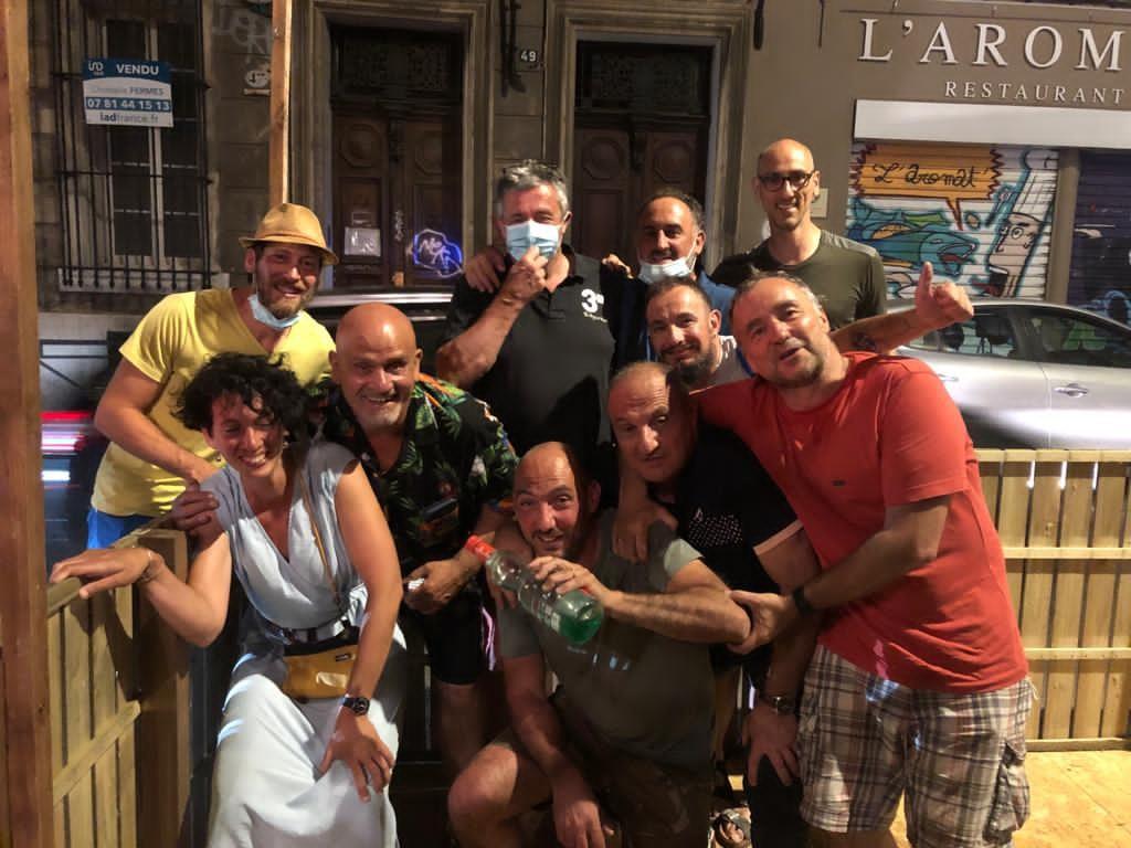 La joyeuse équipe de l'ASVEL Pelote Basque